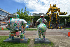 Le Pier-2 Art Center à Kaohsiung Image stock