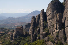 Le pietre di Meteora fotografie stock libere da diritti