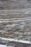 Le pietre per lastricati dei punti della pietra e delle mattonelle Fotografia Stock Libera da Diritti