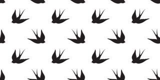 Le pigeon sans couture de vecteur de modèle de mouette d'oiseau a isolé le fond de papier peint illustration de vecteur