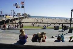 Le pilier au Huntington Beach Photo libre de droits