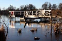 Le pilier au lac Einfelder voient Images stock