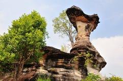 Le pilier en pierre aiment le champignon Photos libres de droits