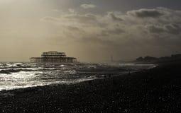 Le pilier occidental à Brighton images stock
