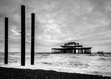 Le pilier occidental à Brighton photo libre de droits
