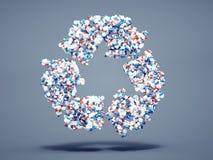 Le pillole riciclano il simbolo Immagini Stock Libere da Diritti
