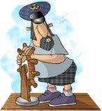 Le pilote de bateau Image libre de droits