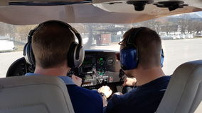 Le pilote prêt à aller photographie stock