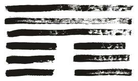 Le pinceau les lignes que minces détaillent haut le fond abstrait de vecteur a placé 87 illustration libre de droits