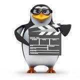le pingouin 3d scolaire fait un film Images stock