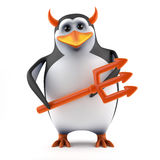 le pingouin 3d vous tente Image stock