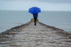 Le pioggie persistenti hanno colpito Devon, Regno Unito che rovina le feste Fotografia Stock Libera da Diritti