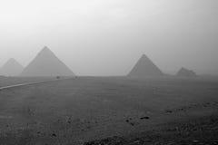 Le piramidi antiche dell'Egitto Immagini Stock