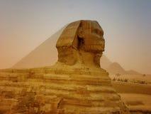 Le piramidi di Giza nell'Egitto, Medio Oriente Immagini Stock