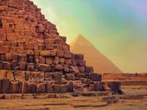 Le piramidi e la Sfinge di Giza nell'Egitto, Medio Oriente Fotografie Stock