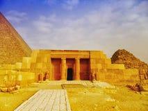 Le piramidi e la Sfinge di Giza nell'Egitto, Medio Oriente Fotografia Stock Libera da Diritti