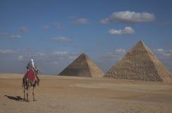 Le piramidi, Egitto fotografia stock