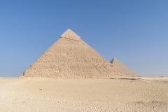 Le piramidi egiziane immagine stock