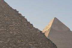 Le piramidi egiziane Immagini Stock