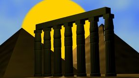 Le piramidi egiziane Fotografia Stock Libera da Diritti