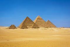 Le piramidi nell'Egitto Immagine Stock