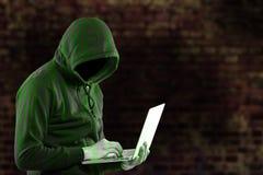 Le pirate informatique secutriy volent vos données et système Photographie stock libre de droits