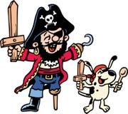 Le pirate rectifient vers le haut Illustration de Vecteur