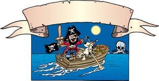 Le pirate rectifient vers le haut Illustration Libre de Droits