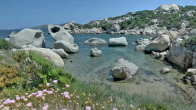 Le Piscine di Porto Cuncatu Rock Beach Sardinia Italy stock video footage