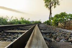 Le piste curvanti del treno sulla collina di Kailasgiri, Vizag immagine stock
