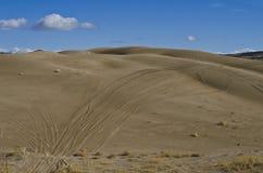 Le piste sulle dune di sabbia fotografia stock libera da diritti