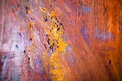 Le pitture ad olio luminose artistiche di verniciatura di colore strutturano il materiale illustrativo astratto Modello futuristi Fotografia Stock Libera da Diritti