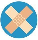 le plâtre de premiers secours, aide de bande, a isolé l'icône de vecteur qui peut être facilement modifiée ou éditée illustration de vecteur