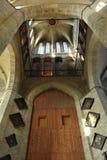 Le plafond d'églises, haut en haut ! image stock