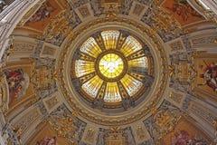 Le plafond de l'église de Berlin Images libres de droits