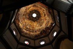 Le plafond du Duomo à Florence, Italie Comporter nombreux photographie stock libre de droits