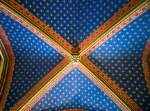 Le plafond gothique a décoré Photos libres de droits