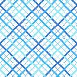 Le plaid, contrôle, treillagent le modèle sans couture, rayures diagonales de largeur différente Illustration de Vecteur