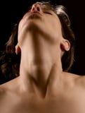 Le plaisir sensuel d'une femme Photographie stock