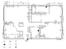 Le plan électrique d'équipement Images stock