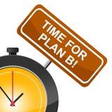 Le plan B indique à l'heure actuelle et remplaçant Images stock