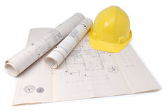 Le plan de l'architecte Image libre de droits