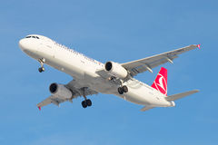 Le plan rapproché d'Airbus A321-231 TC-JMH Turkish Airlines Photo stock