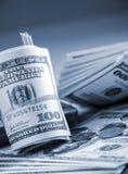 Argent $100 billet d'un dollar Image libre de droits