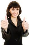 Le plan rapproché de la femme d'affaires de sourire affiche normalement images libres de droits