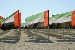 Le plan rapproché des Emirats Arabes Unis marque la vue Images libres de droits