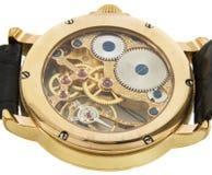 Le plan rapproché du Suisse riche d'or a effectué la montre de chronographe Image stock