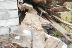 Le plance di legno Fotografia Stock