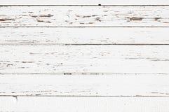 Struttura di legno bianca delle plance. Orizzontale. Fotografia Stock