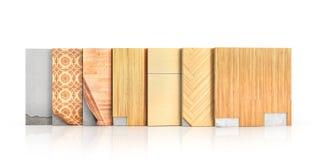 Le plancher dactylographie le revêtement Installation de plancher illustration libre de droits